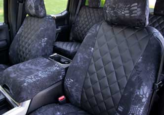 custom seat covers diamond quilting