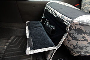 custom seat covers pistol pocket