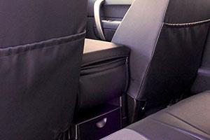 custom seat covers rear pockets